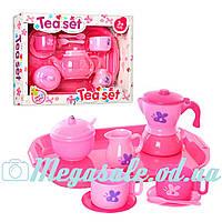 """Набор детской посуды """"Чайный сервиз"""" Tea Set на 2 персоны: поднос в комплекте"""