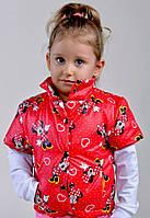 Жилетка для девочки красная Микки-Маус