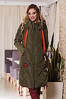 ДТ1666 Пальто на холлофайбере зима