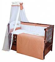 Детский постельный комплект Twins Etno E-002 Птички 7 предметов, терракот