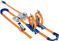 Hot Wheels Track Builder Total Turbo Takeover Track Set, Трек хот вилс Двойное ускорение