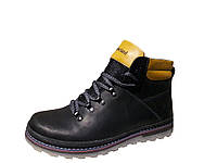 Мужские зимние ботинки Timberland чёрного цвета