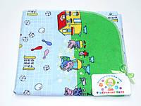 Фланелевые (байковые) пеленки (голубая с игрушками и свинками)