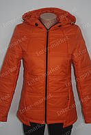 Женская  молодежная демисезонная куртка Катрин оранжевая