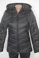 Женская  молодежная демисезонная куртка Катрин черная
