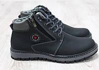 Ботинки зимние кожаные Ecco черные