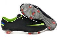 Футбольные бутсы Nike Mercurial Vapor (найк) черные