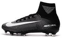 Футбольные бутсы Nike Mercurial Superfly (найк) черные