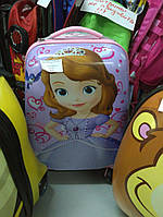 Чемодан детский дорожный пластиковый Принцесса София на 4 колесах 2190-72