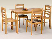Деревянный прямоугольный стол Halmar Calvin ольха золотая