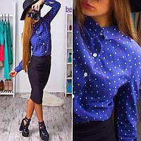 Костюм рубашка штапель и юбка-карандаш кукуруза Kb68