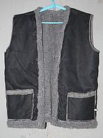Теплая жилетка из искусственной шерсти