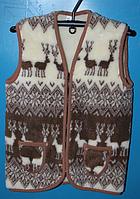 Теплая жилетка из овечьей шерсти
