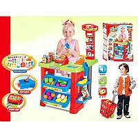 Игровой набор Супермаркет 661-80 с кассой,тележкой и товарами