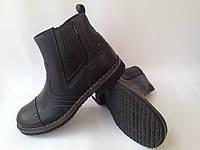 Польские зимние мужские кожаные ботинки черного цвета фабрики ''Wojas'' на натуральном меху