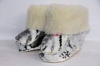 Детские теплые пинетки из овечьей шерсти