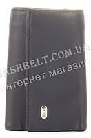 Стильная прочная компактная надежная кожаная ключница PETEK art. PE49-468A черный