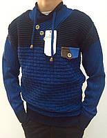Подростковый стильный свитер с шнурками