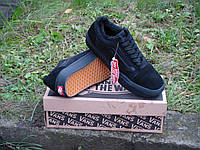 Зимние кеды VANS Old Skool all black р.40-45