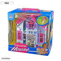 Домик для кукол F611 раскладной с фигурками и мебелью