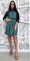 Платье женское на пуговицах клетка, фото 1