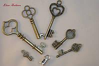 Металлический декор ключи замочек