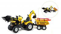 Детский трактор на педалях Falk 1000WH Power Loader