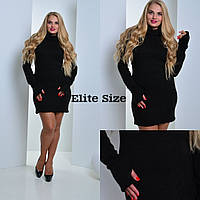Теплое платье из ангоры большие размеры 3 цвета BTor05