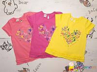 Летнее детское платье свободного кроя в сочных цветах с блестками