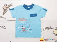 Стильная детская летняя футболка для мальчика ТМ Бемби