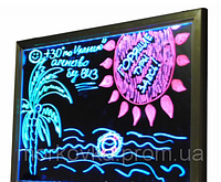 Рекламная светящаяся LED доска 400х600 ( флуоресцентная ) 400 х 300 fluorecent board 40*60