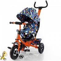 Велосипед детский с ручкой Tilly Trike T-351-10 Orange