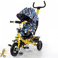 Велосипед детский с ручкой Tilly Trike T-351-10 Yellow