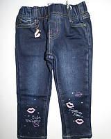 Джинсовые брюки на флисе для девочек Seagull 6-12-18-24-30-36 мес