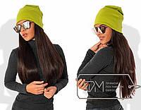 Модная трикотажная шапка, яркий цвет РАЗНЫЕ ЦВЕТА!