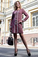 Ультра модное трикотажное платье-туника (трёхнитка, стильная контрастная отделка и принт) РАЗНЫЕ ЦВЕТА!