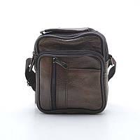 Компактная, практичная сумка. Мужская сумка через плече. Стильная кожаная сумка на ремне. Код: КБН112