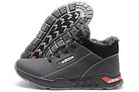 Кроссовки мужские Adidas 393 зимние черные (адидас)