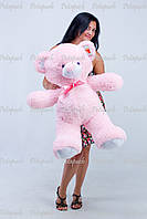Большой плюшевый мишка, медведь Томми 100см розовый