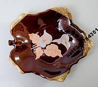 Тарелка керамическая плоская Каллы