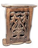 Ключница настенная резная деревянная