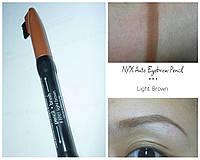 Двойной механический карандаш для бровей NYX auto eyebrow pencil LIGTH BROWN