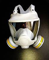 Респиратор-маска химический с фильтрами марки А, резиновая оправа Vita