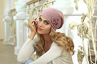 Красивая шапочка, украшенная нежными цветами, Melania