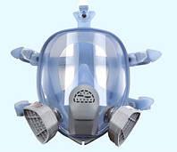 Респиратор-маска химический с фильтрами марки А, силиконовая оправа Vita