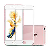Защитное стекло IPhone 6/6S 3D Карбон (белое)