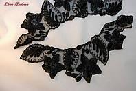 Декоративное кружево воротничек черное