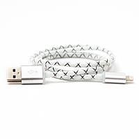 """USB Кабель """"Силикон"""" Черный для iPhone 5/6 (Lightning)"""