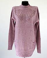 Женская удлиненная кофта размер 54,56, цвета: черный, серый, беж, розовый,темно-серый, светло-розовый, сирень