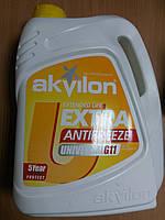Антифриз AKVILON (Аквилон) EXTRA G11 (-40) жёлтого цвета 5л. - производства Украины